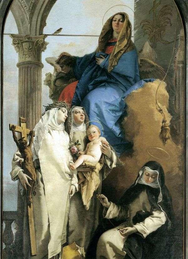 多米尼加圣徒出现处女   Giovanni Battista Tiepolo