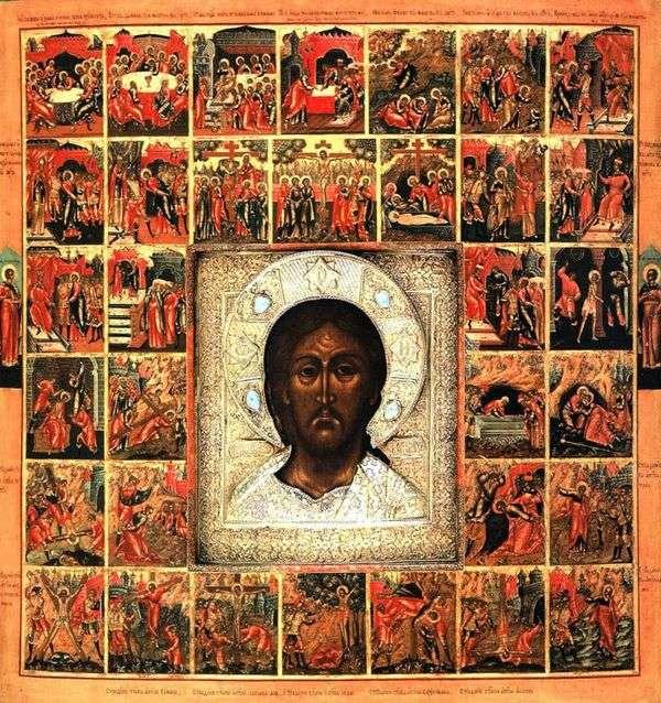 肩膀的救主,在一个框架中,有33枚主和使徒的激情