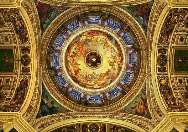 圣艾萨克大教堂天花板上的壁画   卡尔 布鲁洛夫