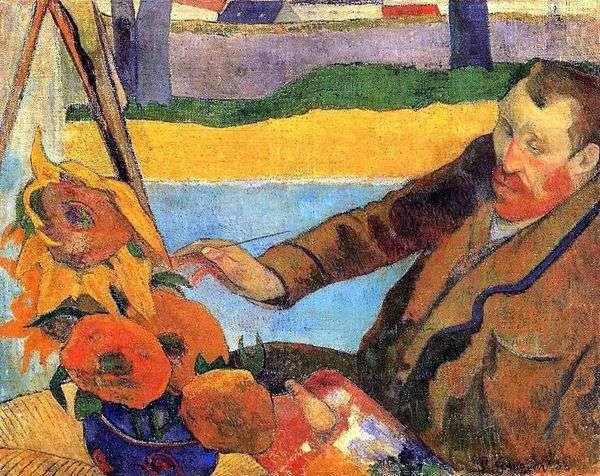 梵高画向日葵(文森特梵高的肖像)   保罗高更