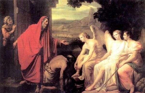 Mambrea的橡树  Karl Bryullov向亚伯拉罕出现了三位天使