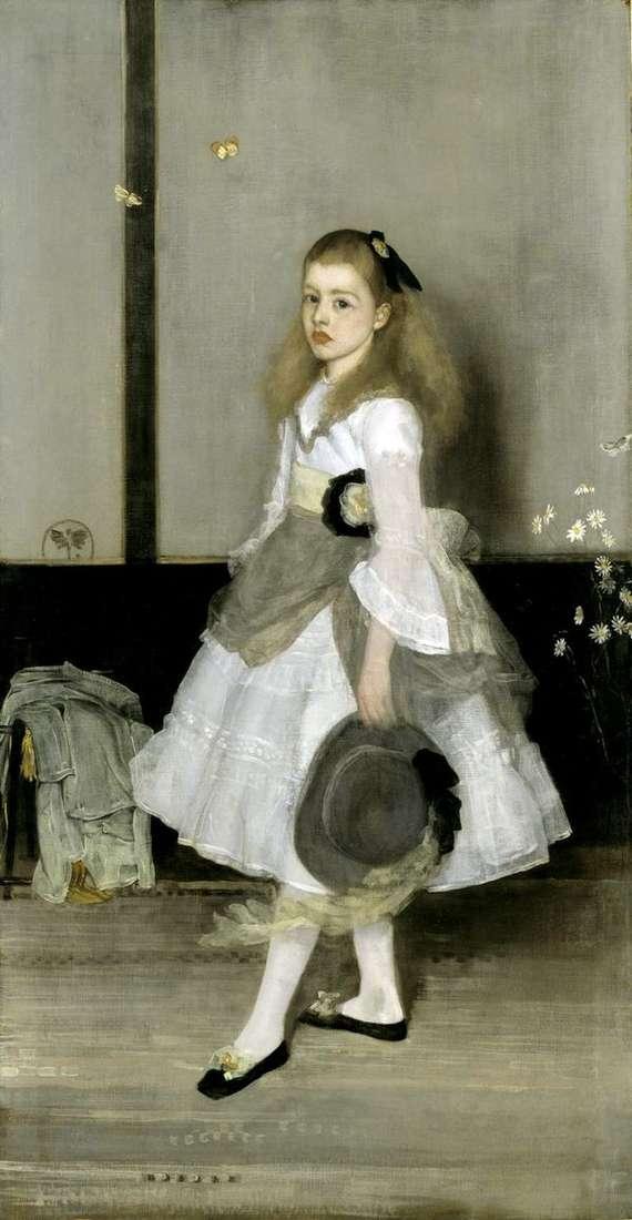 灰色和绿色的和谐:Cecily亚历山大小姐的肖像   詹姆斯惠斯勒