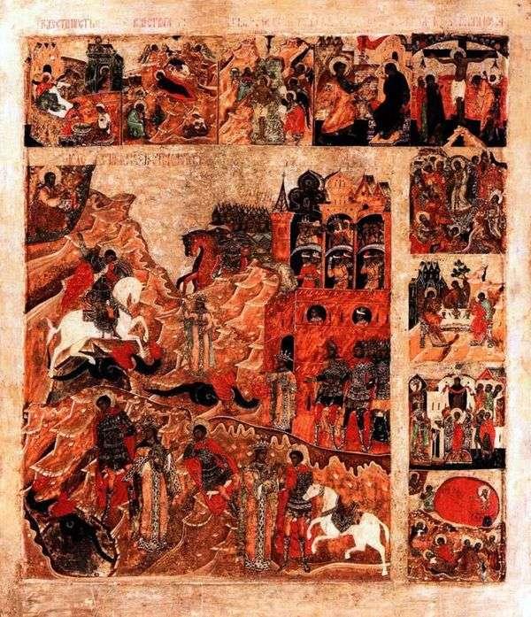 关于蛇的圣乔治奇迹,有9个假期标志