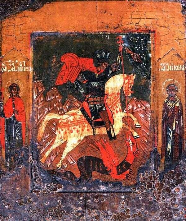关于蛇的圣乔治的奇迹,周五的Paraskeva和田野中的奇迹制造者Nicola