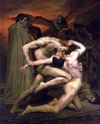 地狱中的但丁和维吉尔   阿道夫布古罗