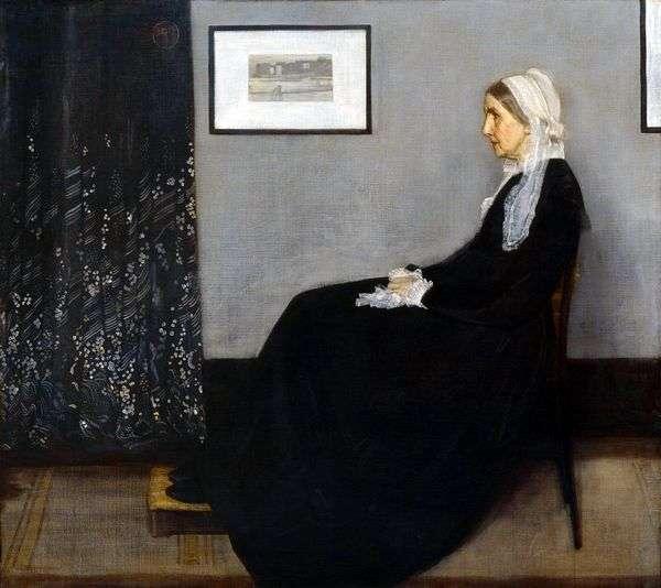安排在灰色和黑色1号:母亲的肖像   詹姆斯惠斯勒