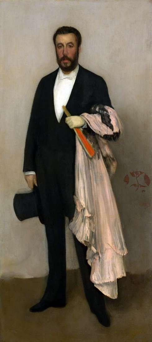 西奥多 杜尔的肖像   詹姆斯惠斯勒
