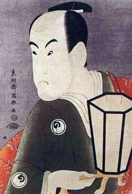 演员Bando Hikosaburo III作为战士Sagisaka Sanan   Tusyushay Syaraku