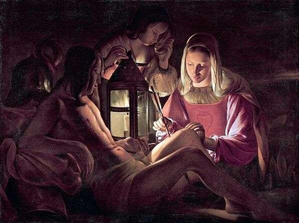 圣塞巴斯蒂安和圣洁的妻子   乔治德拉图尔