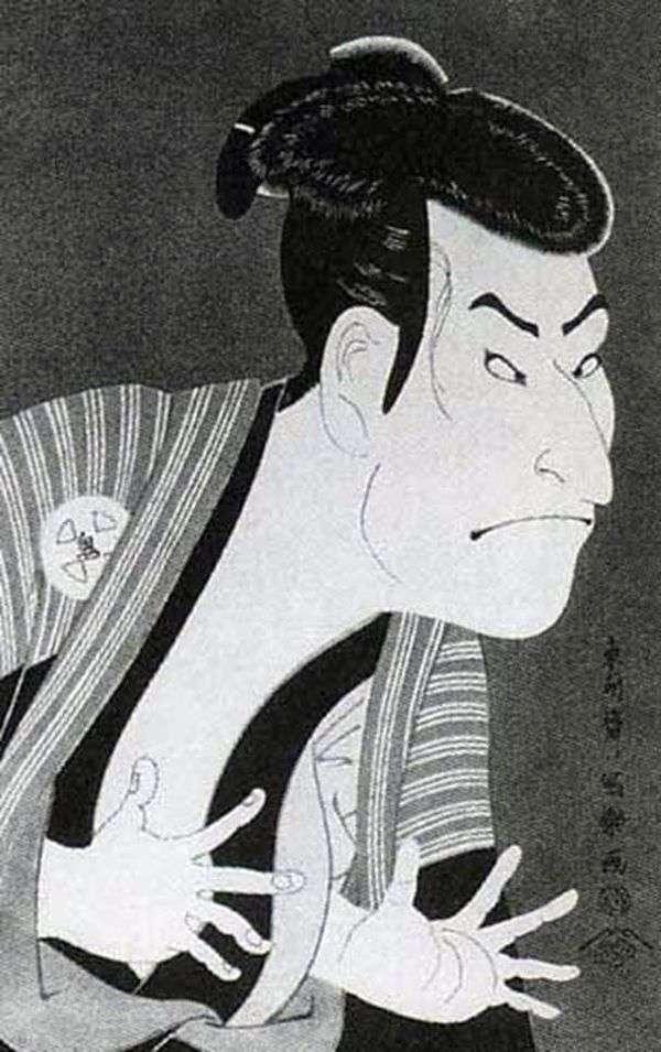 演员大谷Oniji II作为Edohei的仆人   Tusyushai Syaraku