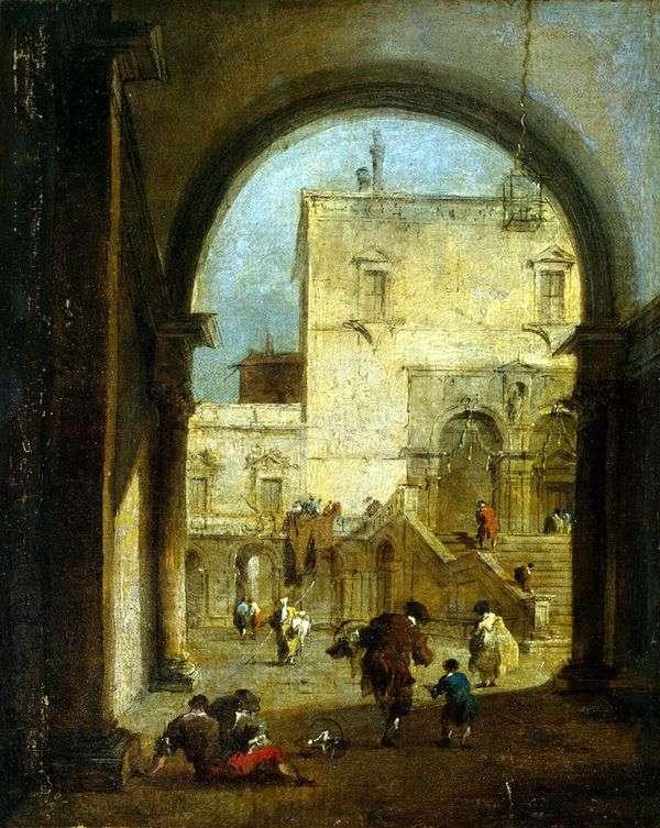 正方形的看法与宫殿的   弗朗切斯科Guardi