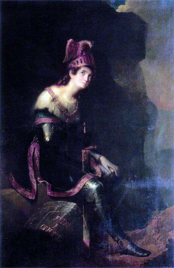 Z. A. Volkonskaya   Fedor Bruni的肖像