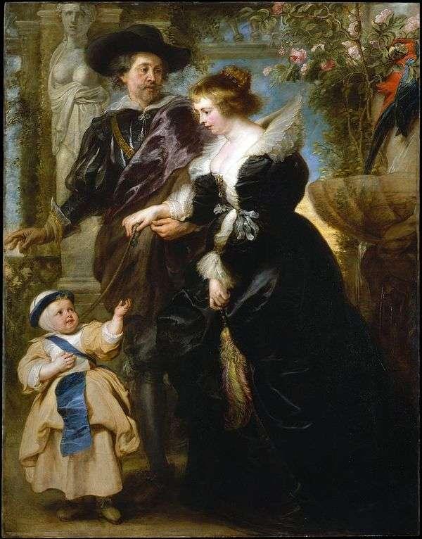 Peter Rubens,他的妻子Helen Fourment和他们的儿子   Peter Rubens