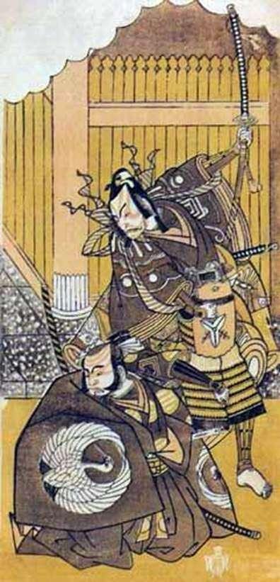 演员Ichikawa Yaozo II和Ichikawa Dandzuro V   Katsukawa Syunse