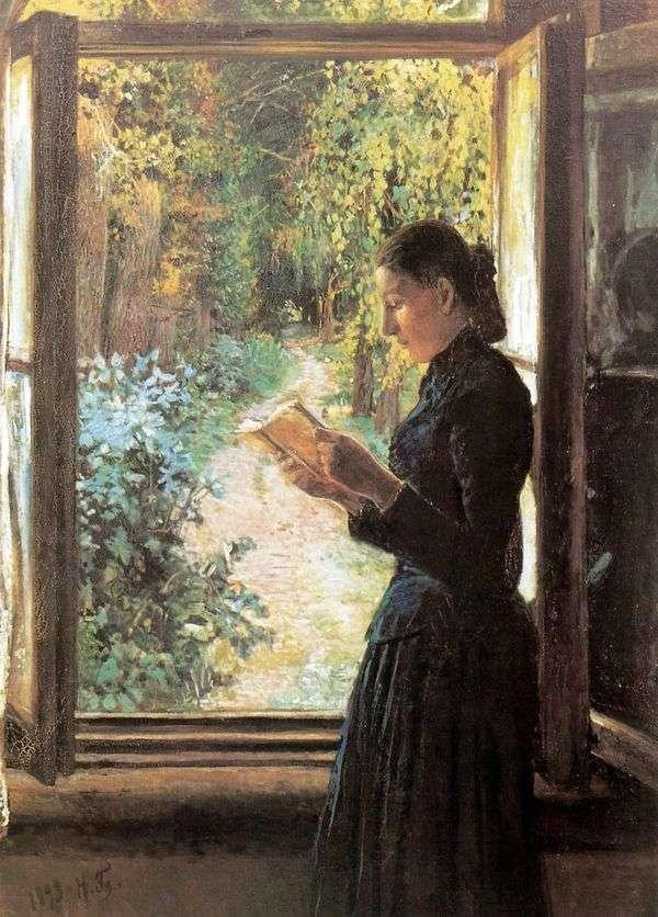 N. 和Petrunkevich画象在开窗口   尼古拉Ge