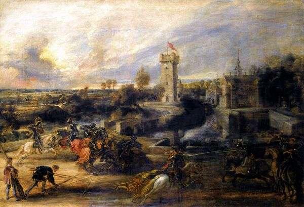 在城堡斯坦   彼得鲁本斯面前决斗