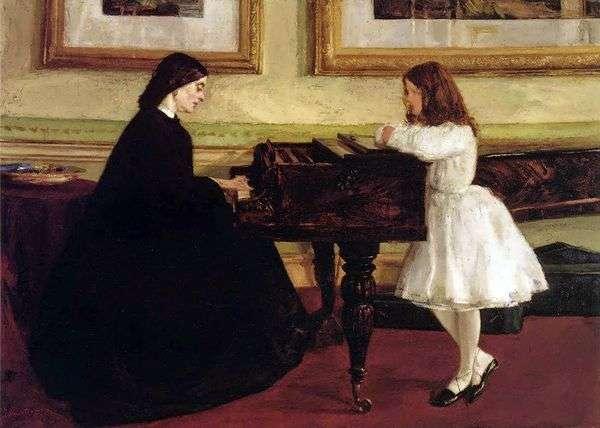 在钢琴   詹姆斯惠斯勒