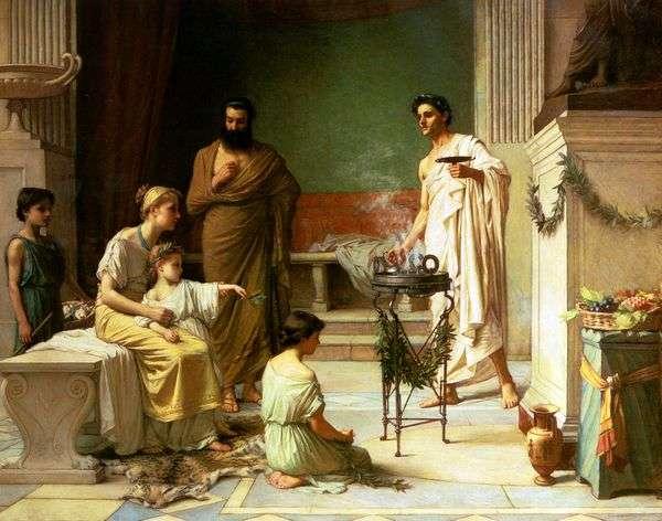 生病的孩子带到Aesculapius寺   约翰沃特豪斯