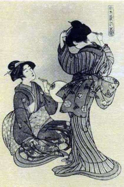两个美女   Kitao Shigemasa