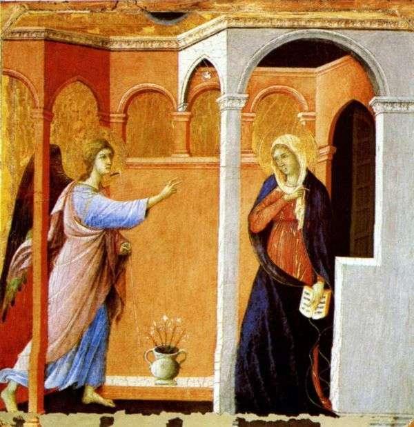 天使报喜   Duccio di Buoninsegna