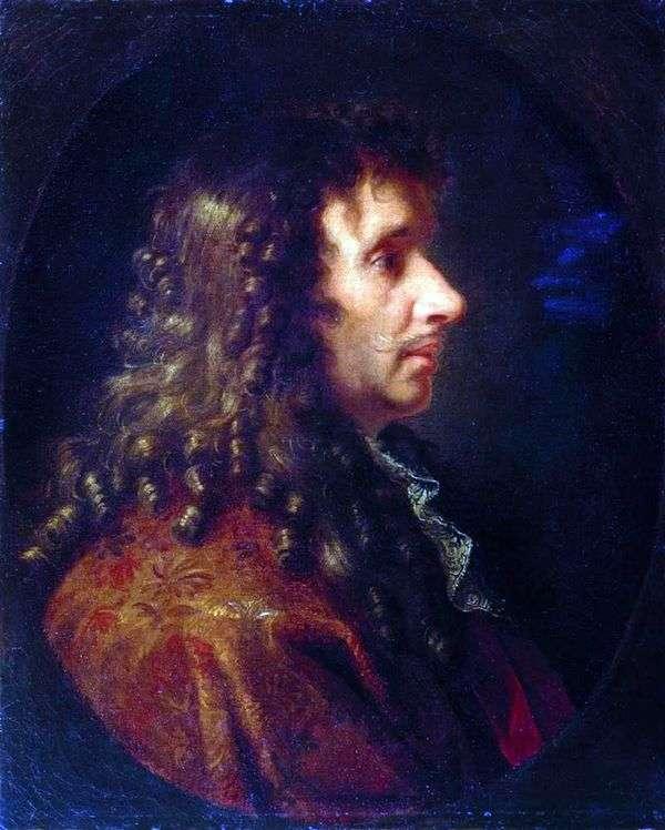 莫里哀的肖像   查尔斯勒布伦