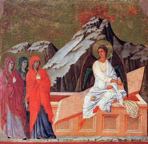 没药的妻子在圣墓   Duccio di Buoninsegna
