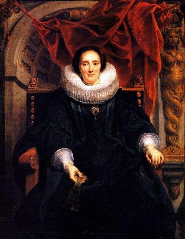 Katharine Behagel的肖像   Jacob Jordaens