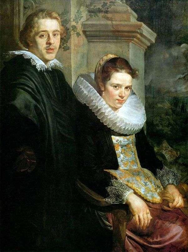 一对年轻夫妇的画象   雅各布Jordaens