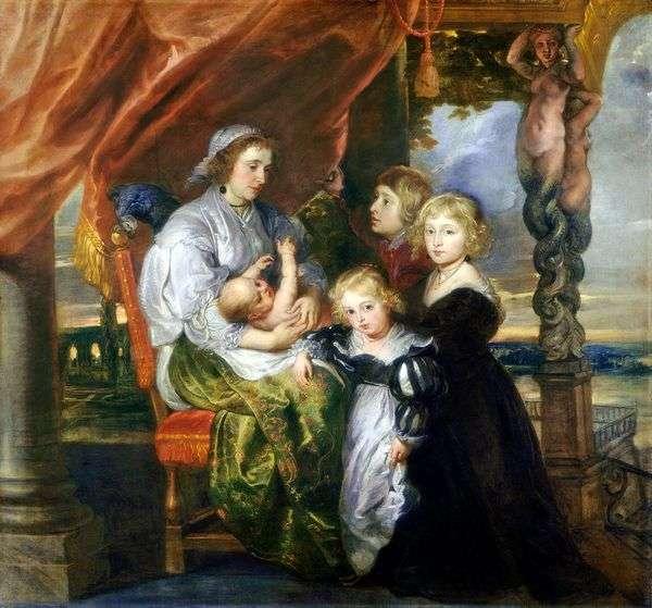 Deborah Kip与孩子们的肖像   彼得鲁本斯