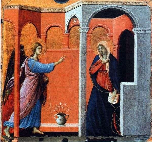 Maesta。天使报喜   Duccio di Buoninsegna
