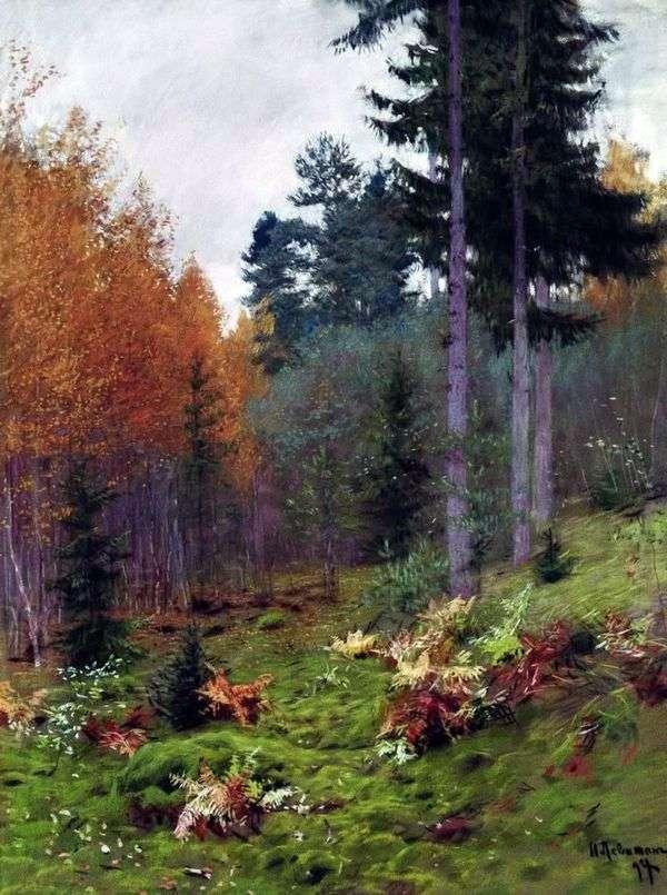 在秋天的森林里   艾萨克列维坦