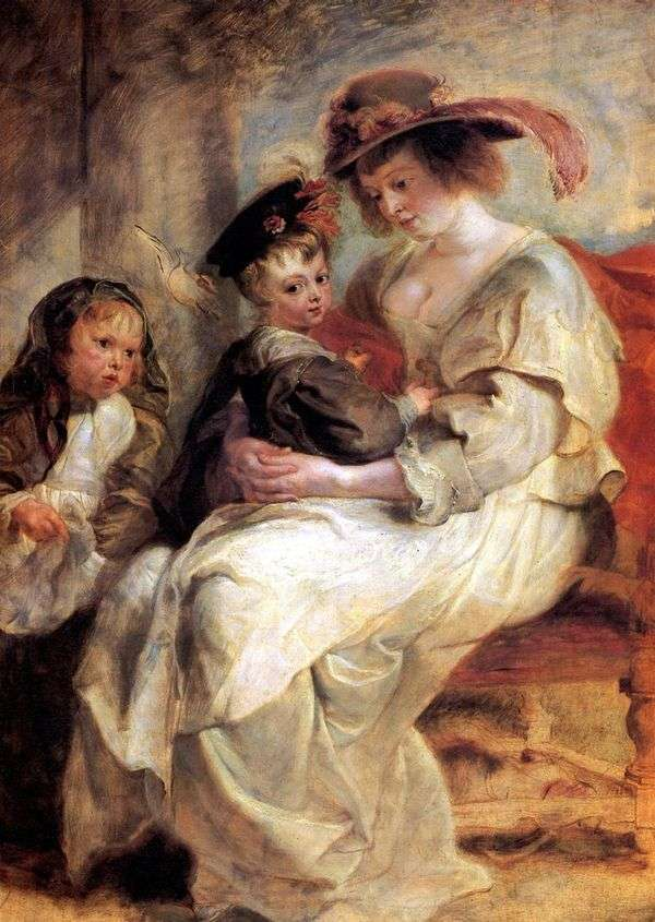 Elena Fourman画象有两个孩子的   彼得鲁本斯