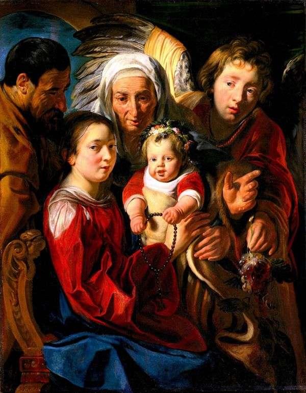 神圣家族   Jacob Jordaens