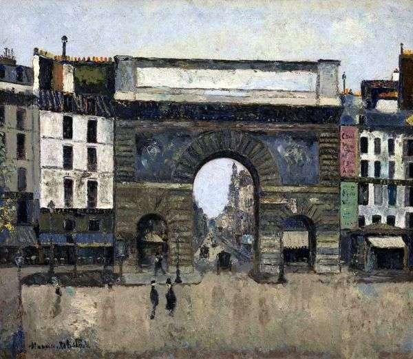 Gate Saint Hazartin   Maurice Utrillo