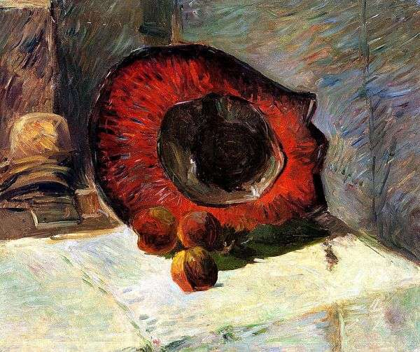 红帽和水果   保罗高更