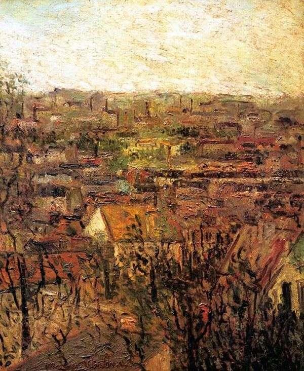 Monmigny的屋顶   Maurice Utrillo