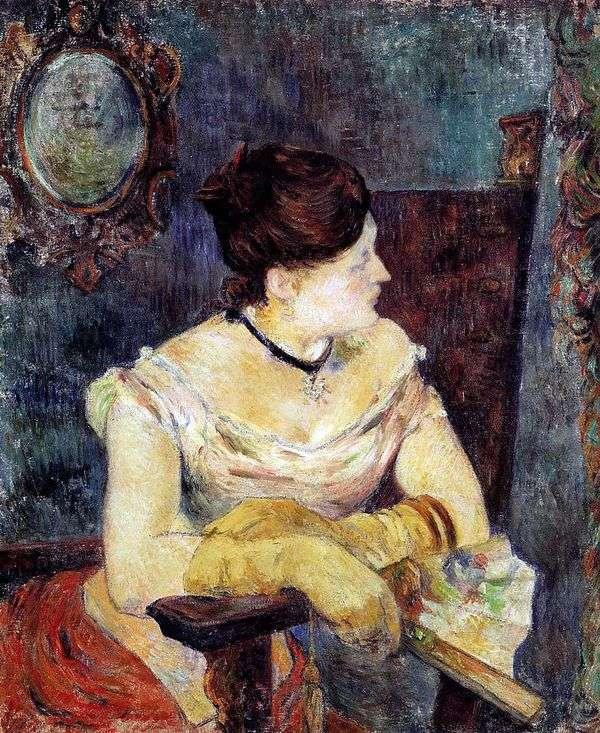 Mette Gauguin穿着晚礼服   Paul Gauguin