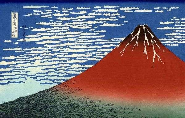 胜利的风,晴朗的日子红富士   葛饰北斋