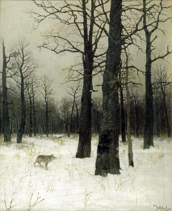冬天在森林里   艾萨克列维坦
