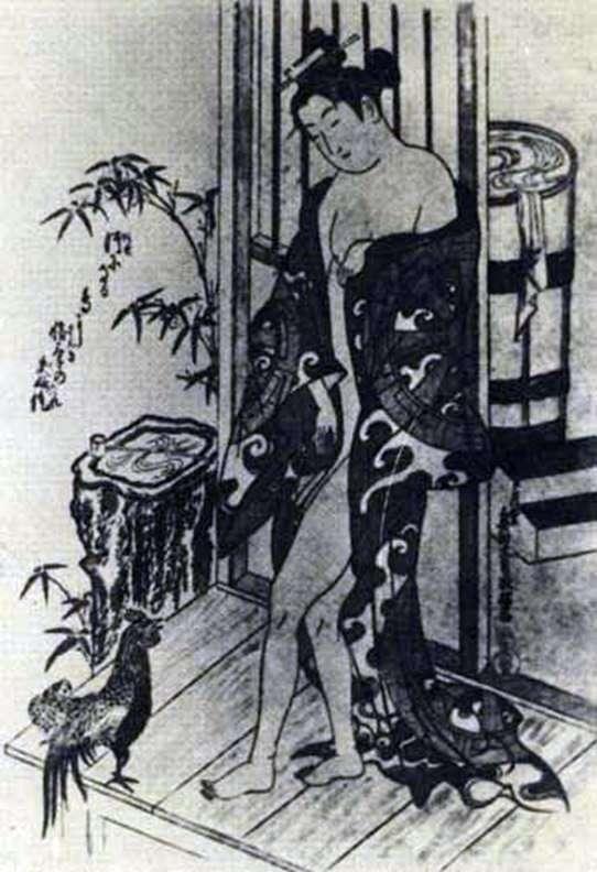 沐浴后   Okumura Masanobu
