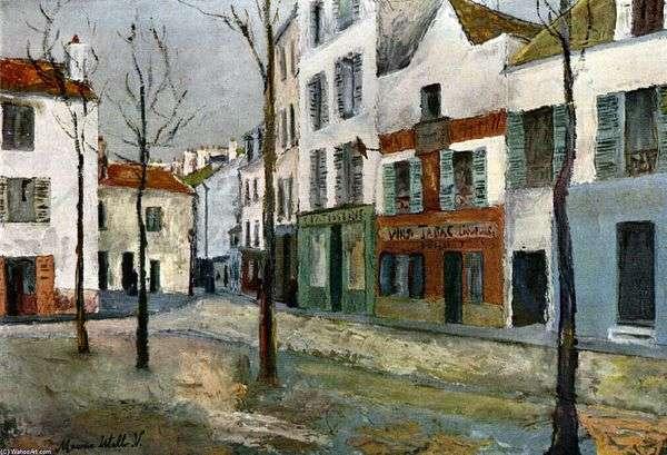 Place de Tertre   Maurice Utrillo