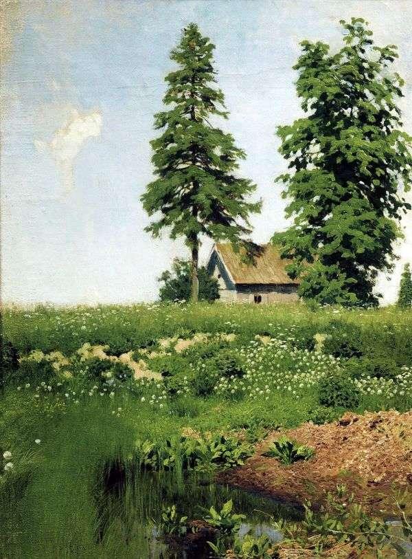 小屋在草地上   艾萨克列维坦