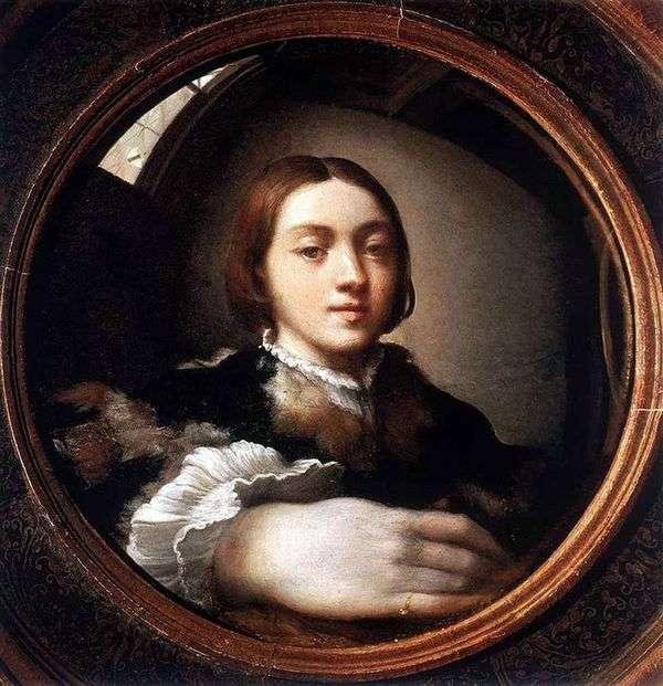 凸面镜中的自画像   Francesco Parmigianino