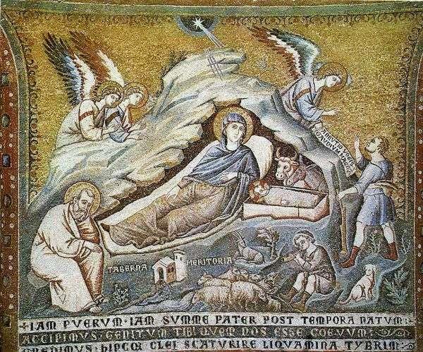 基督的圣诞节。   Pietro Cavallini