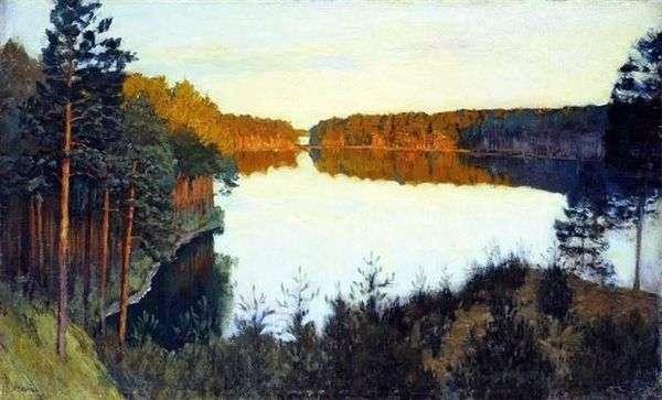森林湖   艾萨克列维坦