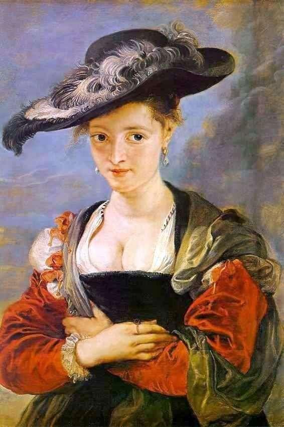 Suzanne Forment(草帽)的肖像   彼得鲁本斯