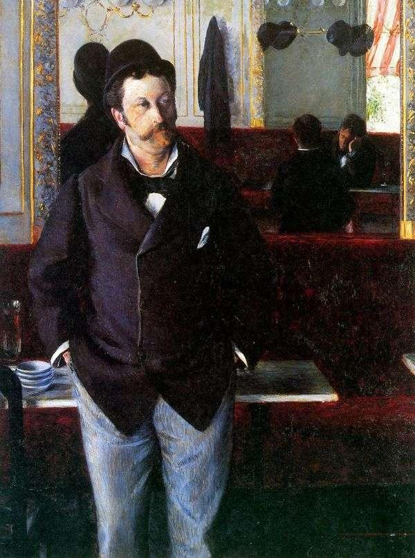 在Cafe   Gustave Caibotte