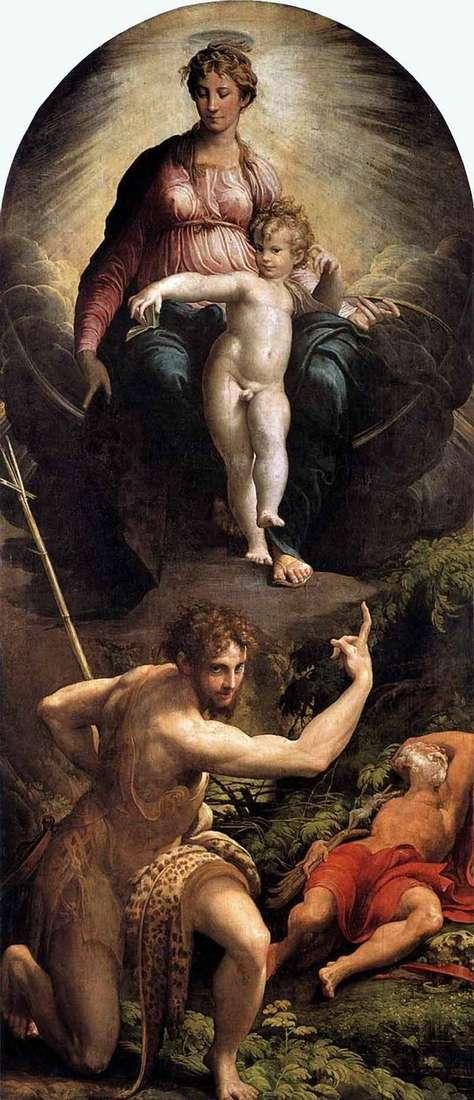 圣杰罗姆的愿景   Francesco Parmigianino