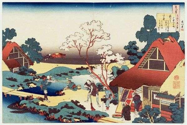 诗Ono no Komati   Katsushika Hokusai
