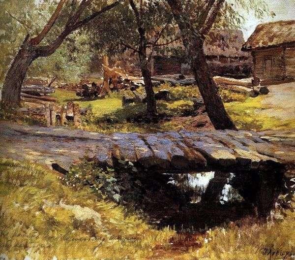 大桥。Savvinskaya定居点   Isaac Levitan